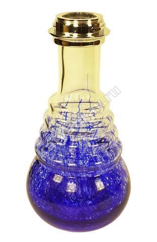 Колба AMY 630 D klick Серебристая (C) / Голубой абстрактный рисунок (BU)