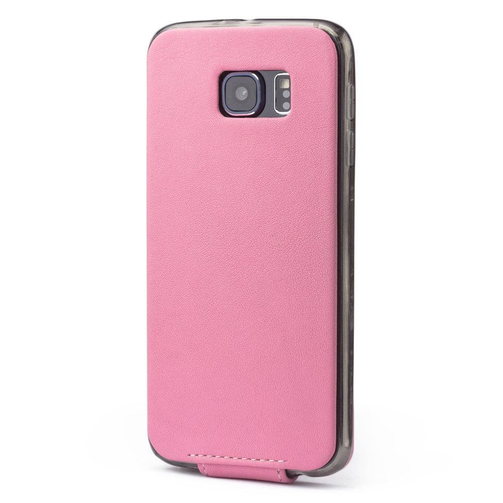 Чехол для Samsung Galaxy S6 из натуральной кожи теленка, розового цвета