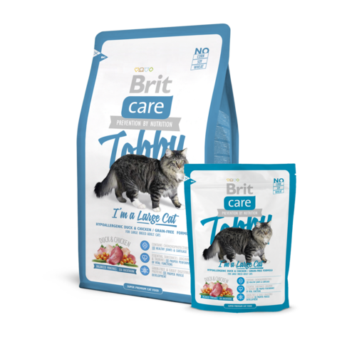 Brit Care Tobby Сухой корм для крупных кошек