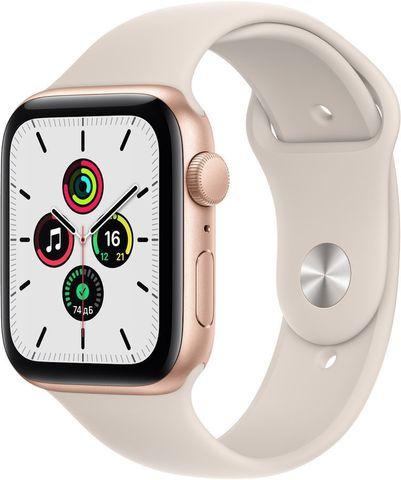 Часы Apple Watch SE GPS 44mm Aluminum Case with Sport Band Золотистый / сияющая звезда 2021 (MKQ53)