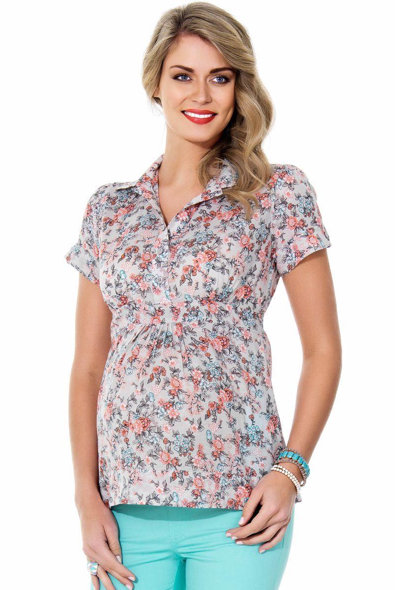 Рубашка для беременных 01361 розовый