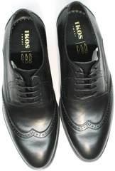 Красивые мужские туфли инспектор Ikos 1157-1 Classic Black.