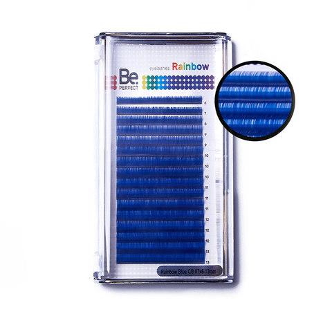 Цветные ресницы Be Perfect Rainbow Blue MIX (16 Линий)