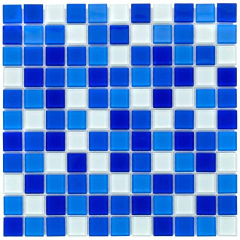 Мозаика стеклянная Aquaviva Сristall Bagama темная DCM303 / 17386