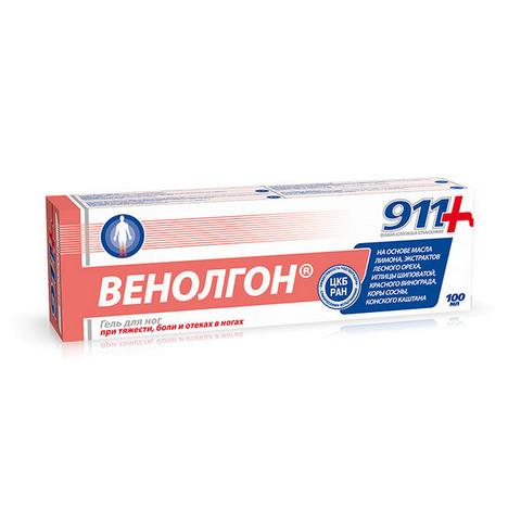911 Гель для ног Венолгон , 100 мл