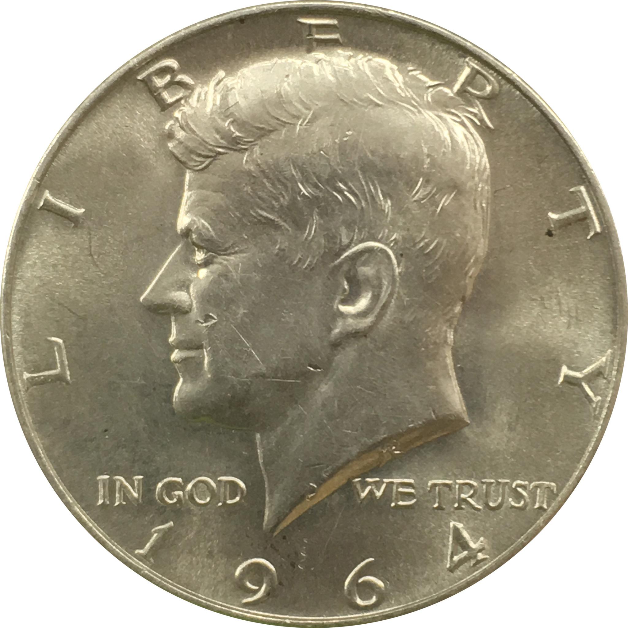 50 центов 1964 год. Кеннеди (D)