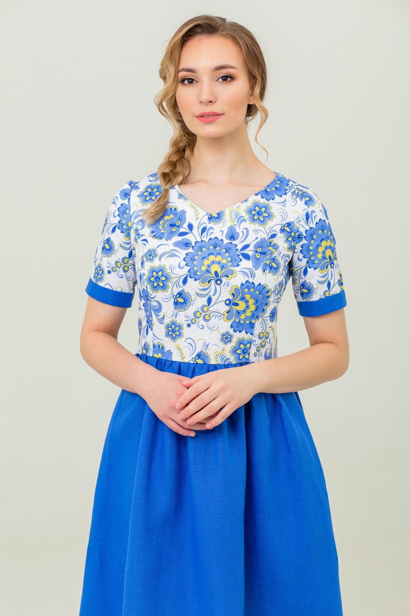 Вечернее платье в русском стиле