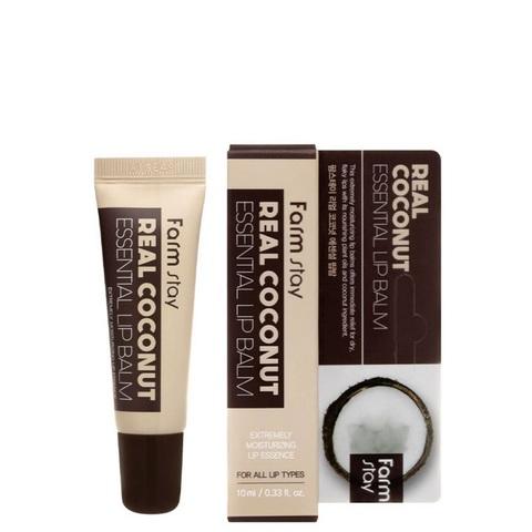 Farm Stay Real Coconut Essential Lip Balm бальзам для губ с маслом кокоса