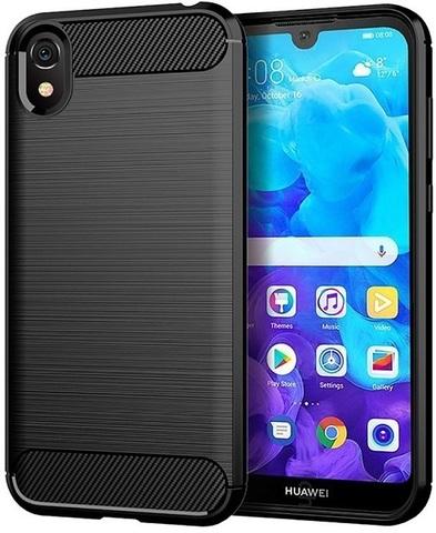Чехол Carbon для Huawei Y5 (2019)/Honor 8S серия Карбон | черный