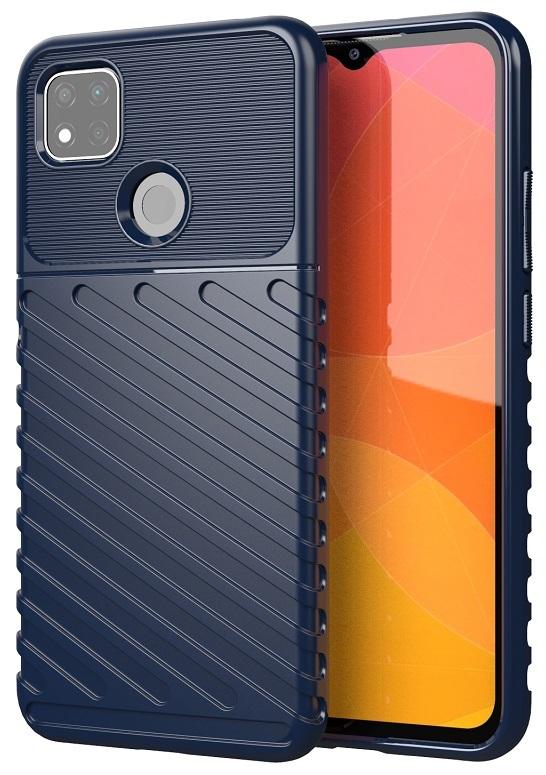 Противоударный чехол синего цвета на Xiaomi Redmi 9c, серия Onyx от Caseport