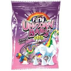 Карамель с шипучим центром Fini Unicorn balls 80 гр