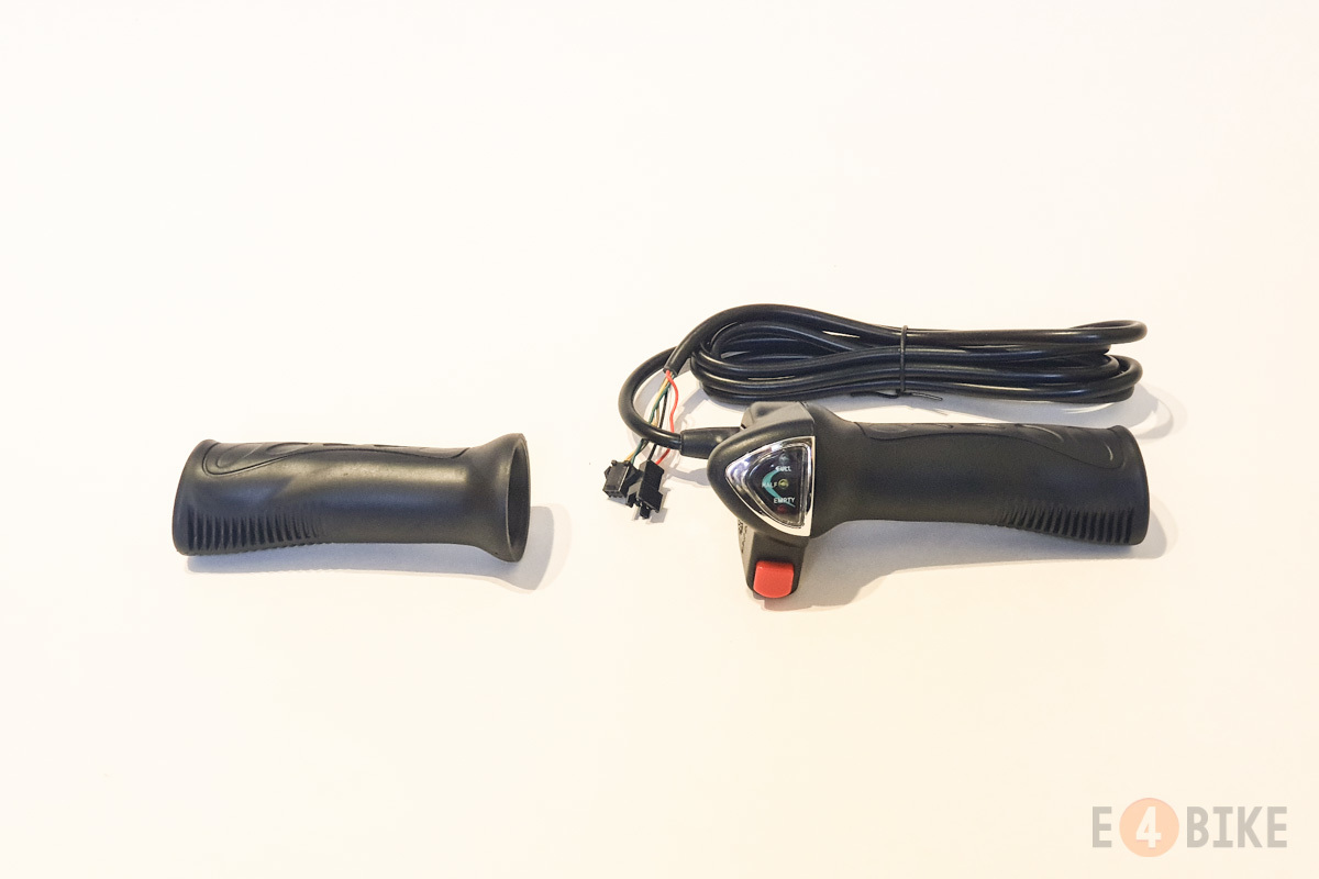 Ручка газа (под кисть) - Полная с индикатором