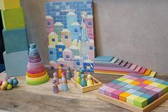 Набор Кубиков 36 штук пастель (Grimms)