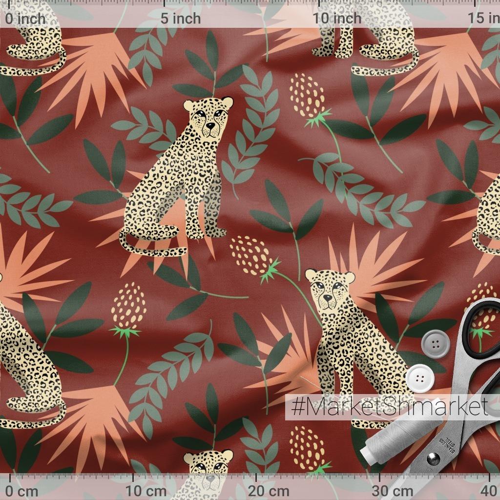 Леопарды на красном
