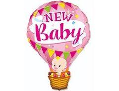 F Фигура, Шар воздушный розовый, new baby, 36