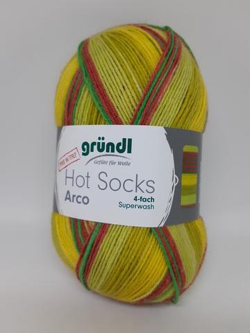 Носочная пряжа Gruendl Hot Socks Arco 02