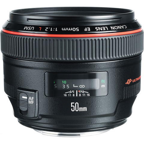 Объектив Canon EF 50mm f/1.2L USM Black для Canon