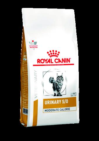 Корм Royal Canin Urinary S/O Moderate Calorie для кошек при МКБ, 1,5 кг