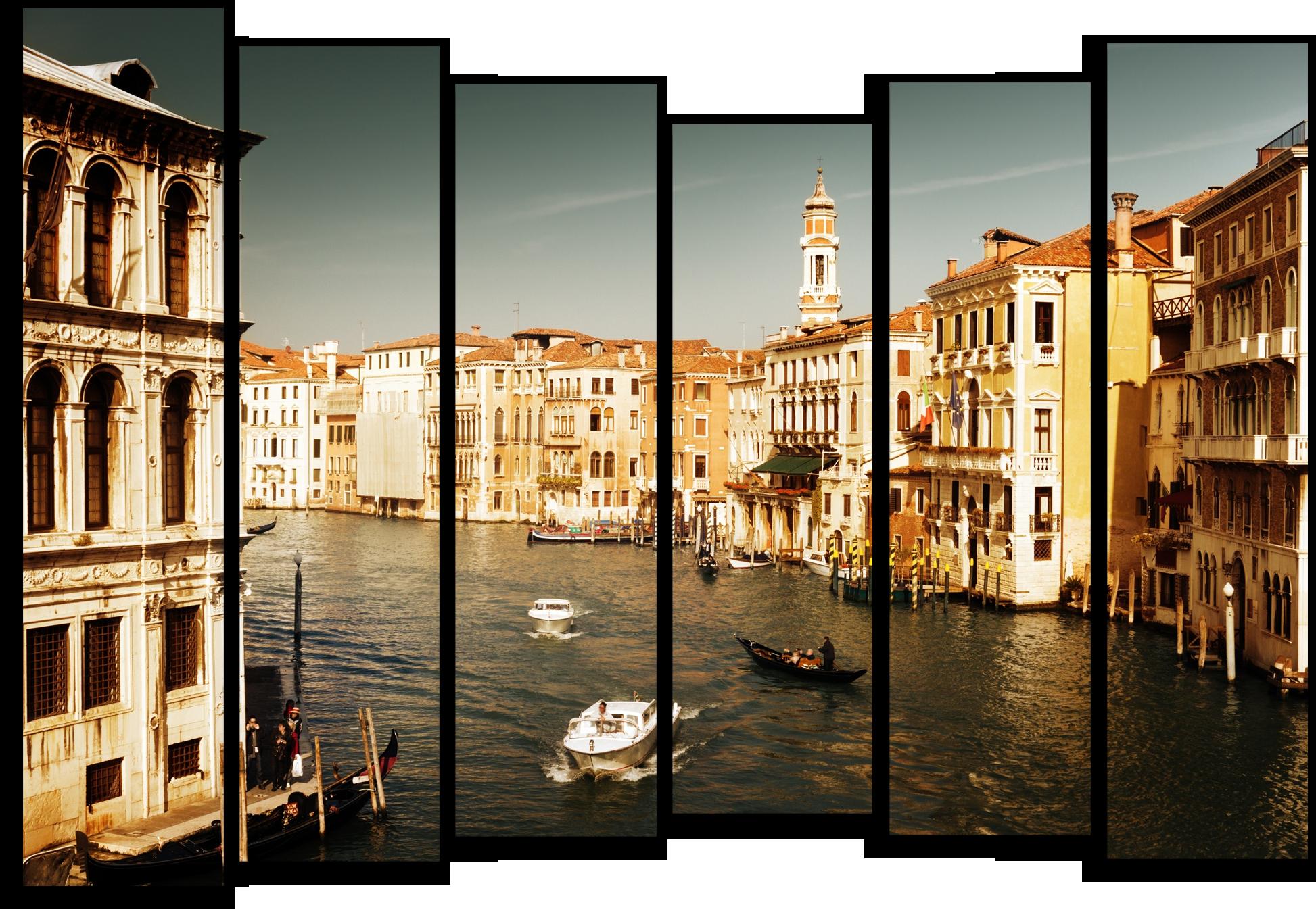 """Города Модульная картина """"Прекрасная Венеция"""" М428.png"""