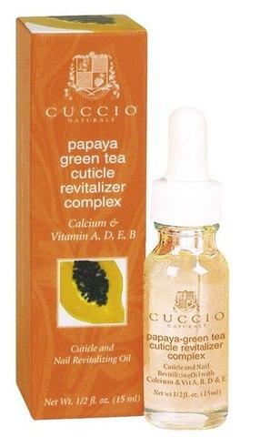 Косметическое масло на основе экстракта папайи и зеленого чая для кутикулы - 15ml