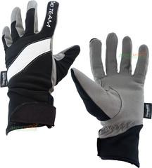 Перчатки лыжные с липучкой Ski Team K18003BW черно/белые