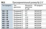 Модели скважинных насосов SQ 1