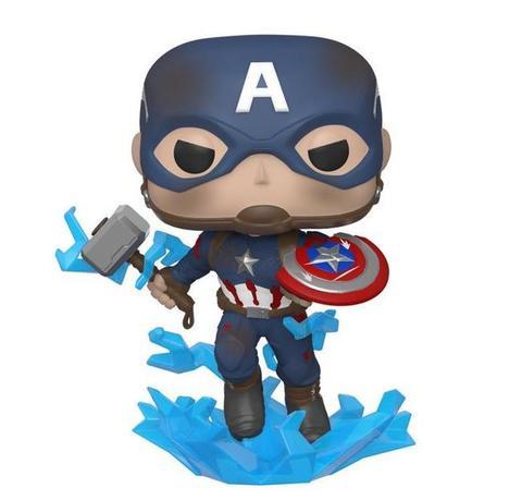 Funko POP! Marvel: Avengers Endgame: Captain America with Broken Shield & Mjolnir