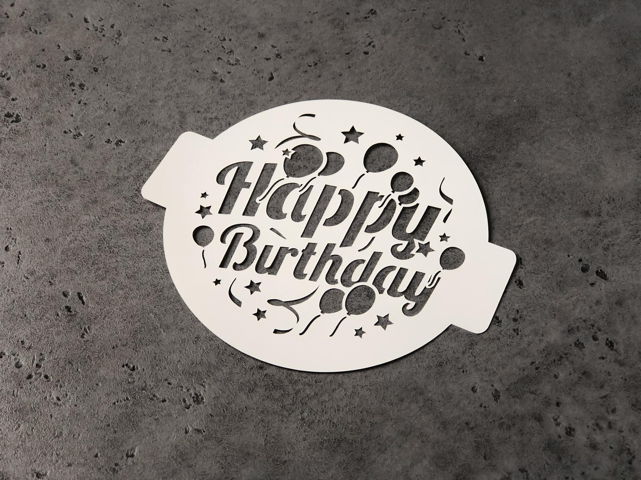 Трафарет «Happy Birthday»