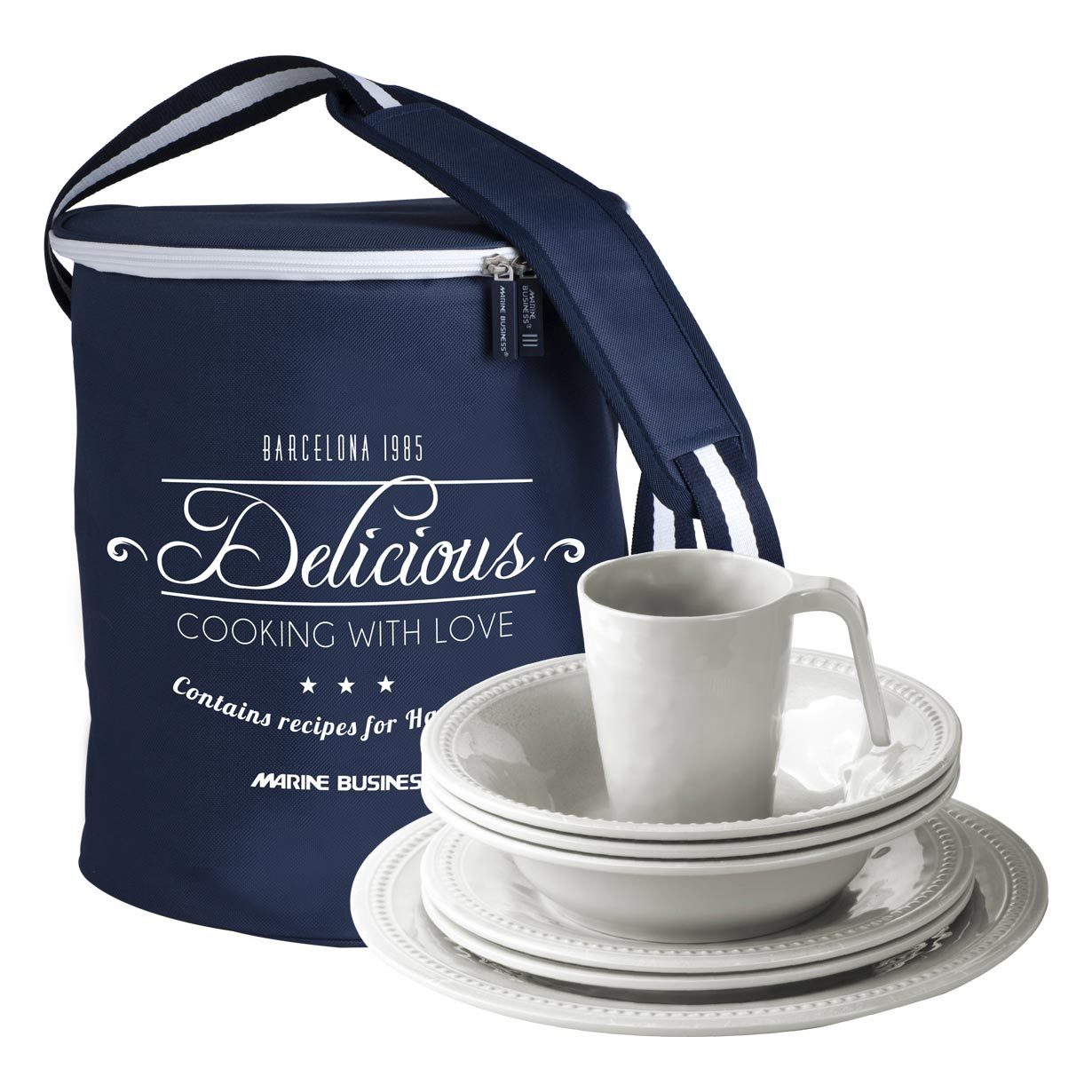 Melamine Kitchenware Pack, Harmony Pearl, 6 Person