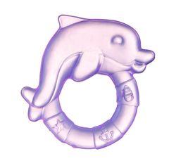 Canpol babies. Прорезыватель водный охлаждающий Дельфин, 0+, розовый