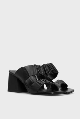 Женские черные кожаные мюли Abegeyl PRPY
