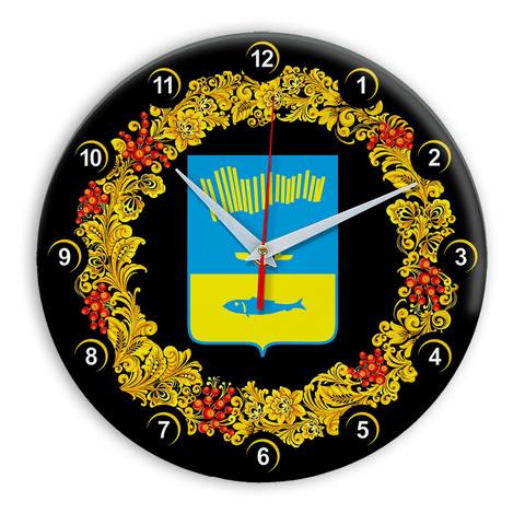 Часы в стиле Хохлома сувенирные Мурманск 03