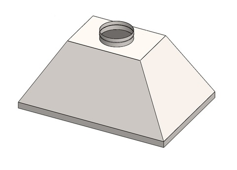 Под заказ Зонт купольный 500х800/ф150 мм