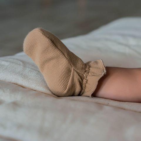 Ribbed socks 0+, Desert Sand