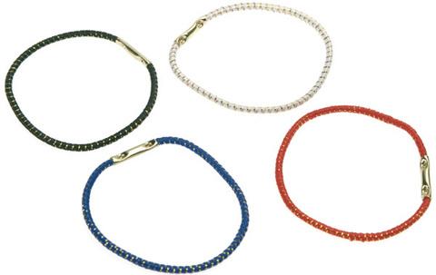 Резинки для волос (диаметр 45мм) цветные с люрексом