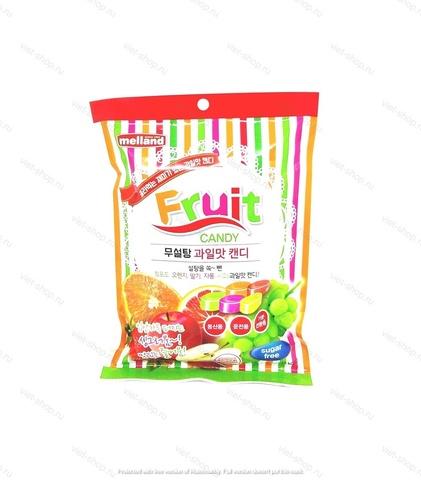 Карамель без сахара со вкусом зеленого винограда, апельсина, клубники, грейпфрута, яблока Kukje Melland, Корея, 92 гр.