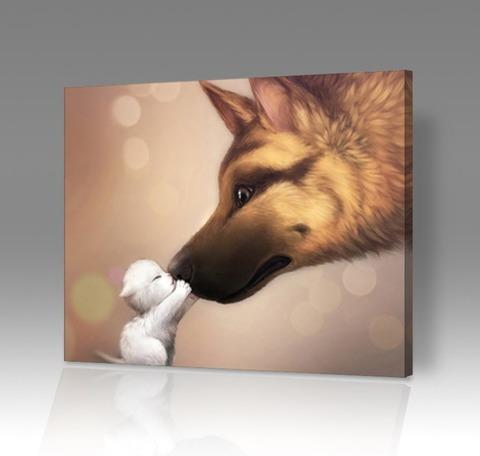 Картина по номерам на холсте Рекс и Пикси, 40см*50см