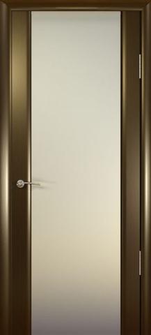 Дверь Шторм-3 стекло белое (венге, остекленная шпонированная), фабрика Океан