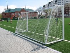 Ворота футбольные переносные 7.32 х 2.44 м (пара), d=89мм.