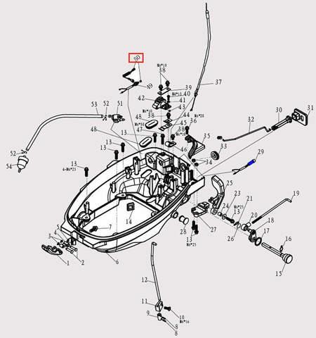Трос страховочный для лодочного мотора F9.8 Sea-PRO (2-50)