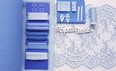 Набор 2. Бюстгальтер на косточках и трусики (Голубой)