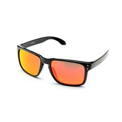 Очки солнцезащитные 2K S-14009-E (чёрный глянец / красный revo)