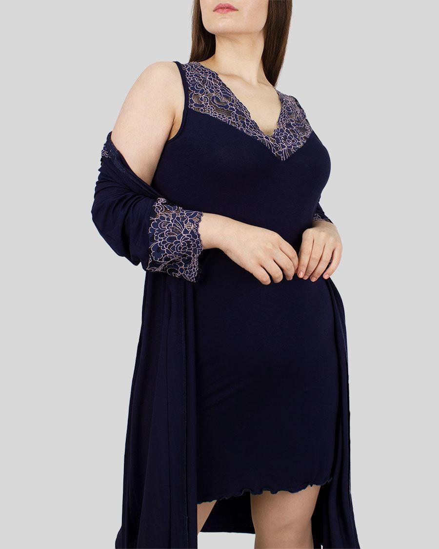 Пеньюар женский халат с сорочкой