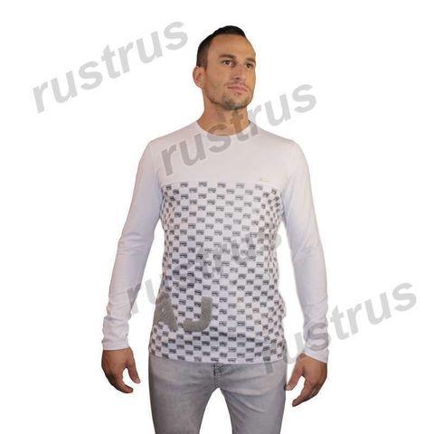 Мужская футболка с длинными рукавами белая FDR0101