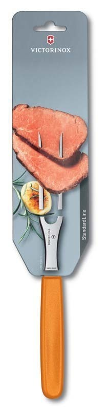 Кулинарная вилка Victorinox, оранжевая (5.2106.15L9B) - Wenger-Victorinox.Ru