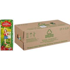 Сок Сады Придонья яблоко/вишня 0.2 л (27 штук в упаковке)