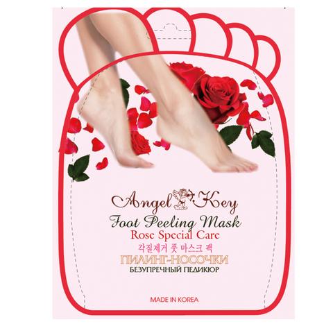 Пилинг-носочки Angel Key для безупречного педикюра с экстрактом розы 40 гр