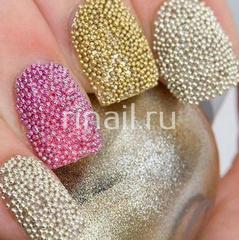 Бульонки для дизайна ногтей, золото