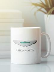 Кружка с рисунком Астон Мартин (Aston Martin) белая 003