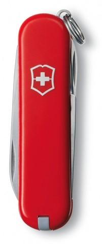 Нож-брелок Victorinox Classic, 58 мм, 7 функций, красный карт.коробка